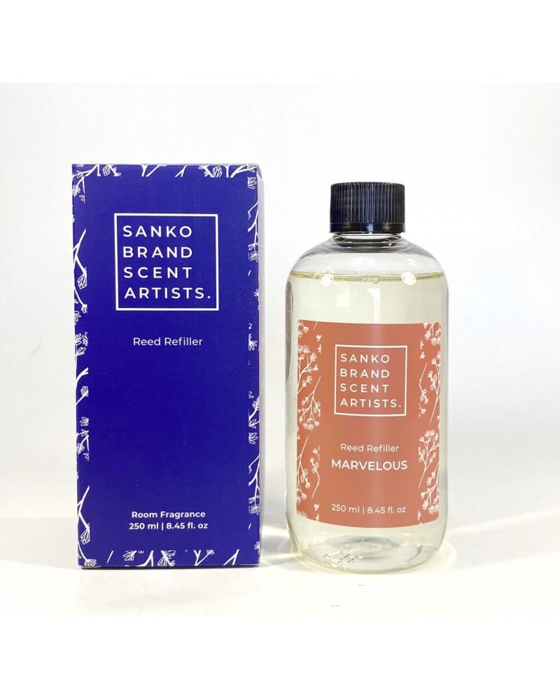 MARVELOUS Reed Refiller αρωματικό χώρου 250 ml (Ανταλλακτικό για το Reed Diffuser)