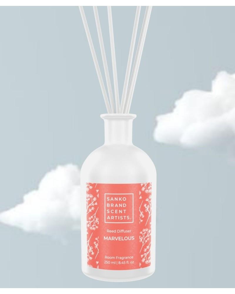 MARVELOUS Reed Diffuser αρωματικό χώρου με στικς 250 ml